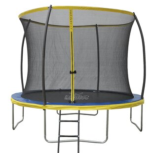 Zero Gravity Ultima 4 High Spec 10' Trampoline With Safety Enclosure Netting And Ladder By Zero Gravity Trampolines