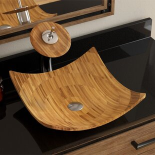 Bamboo Square Vessel Bathroom Sink By MR Direct