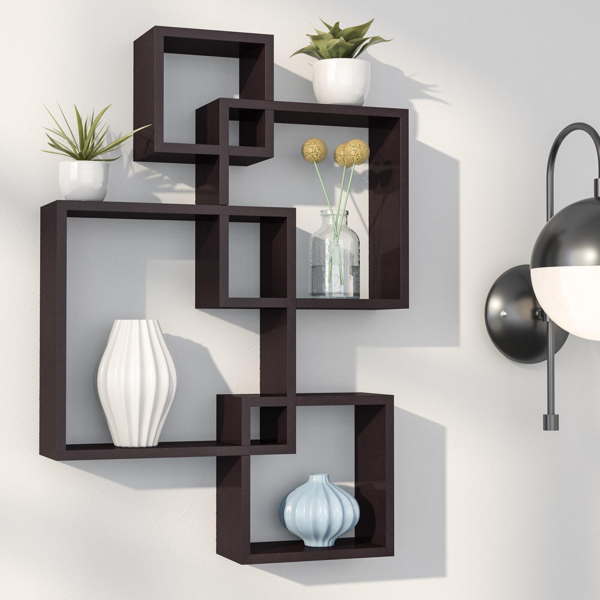 Swell Vernonburg Intersecting Cubes Shelf Home Interior And Landscaping Ologienasavecom