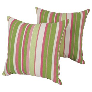 Shibles Stripe Outdoor Throw Pillow (Set of 2)