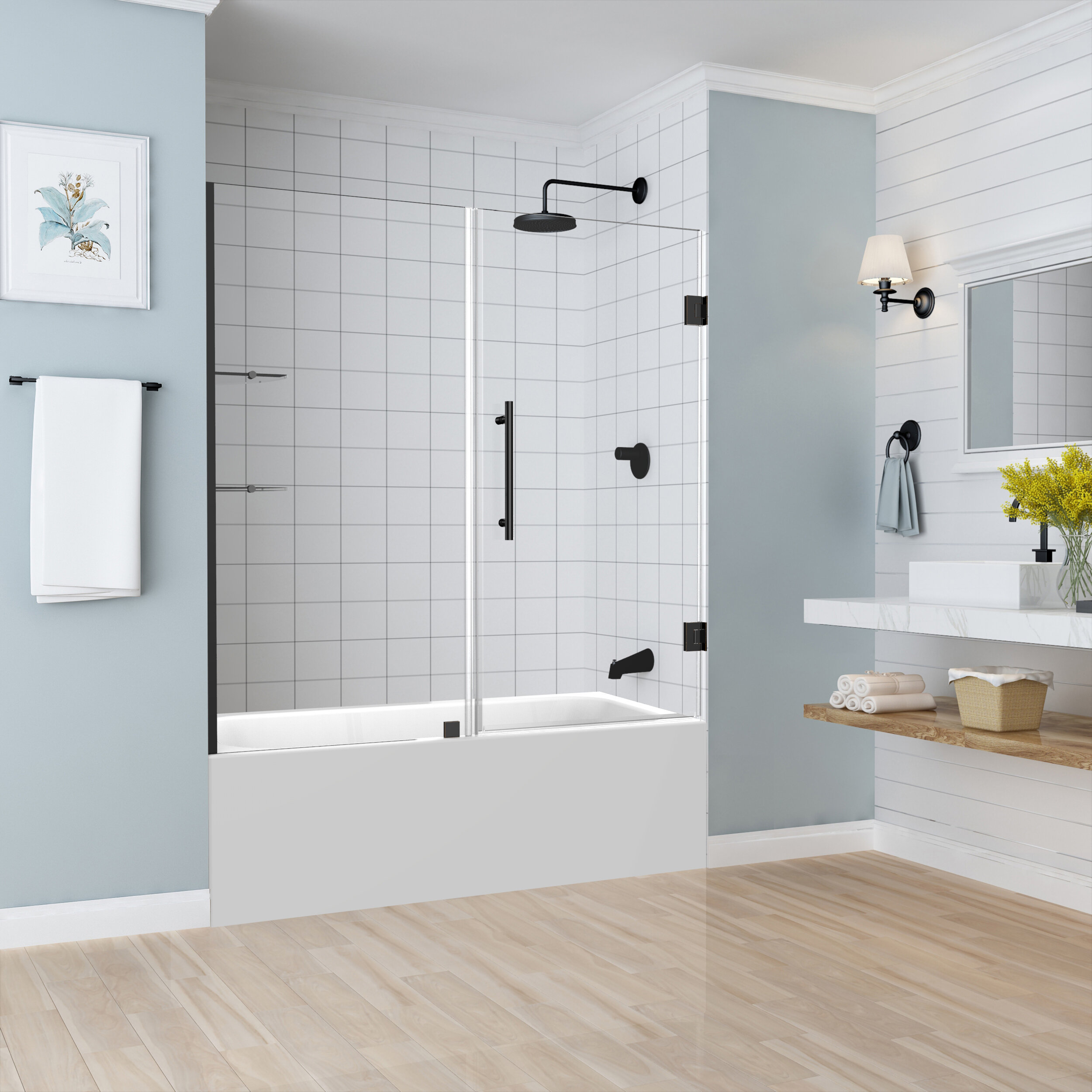 Belmore Gs 60 X 60 Hinged Frameless Tub Door