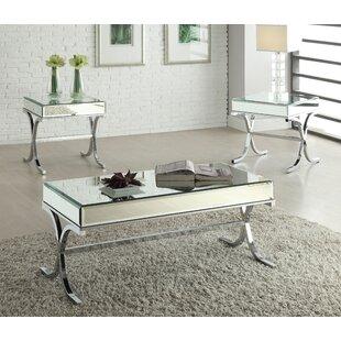 Khalid 3 Piece Coffee Table Set