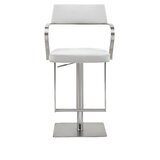Harwich Adjustable Height Swivel Bar Stool by Orren Ellis