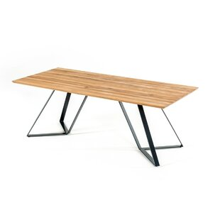 17 Stories Yip Drift Wooden Dining Table