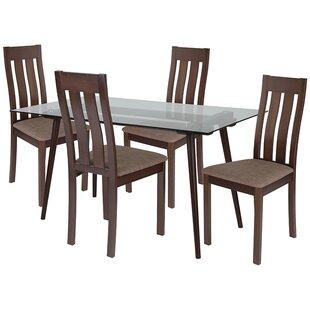 Ebern Designs Kaleb 5 Piece Dining Set