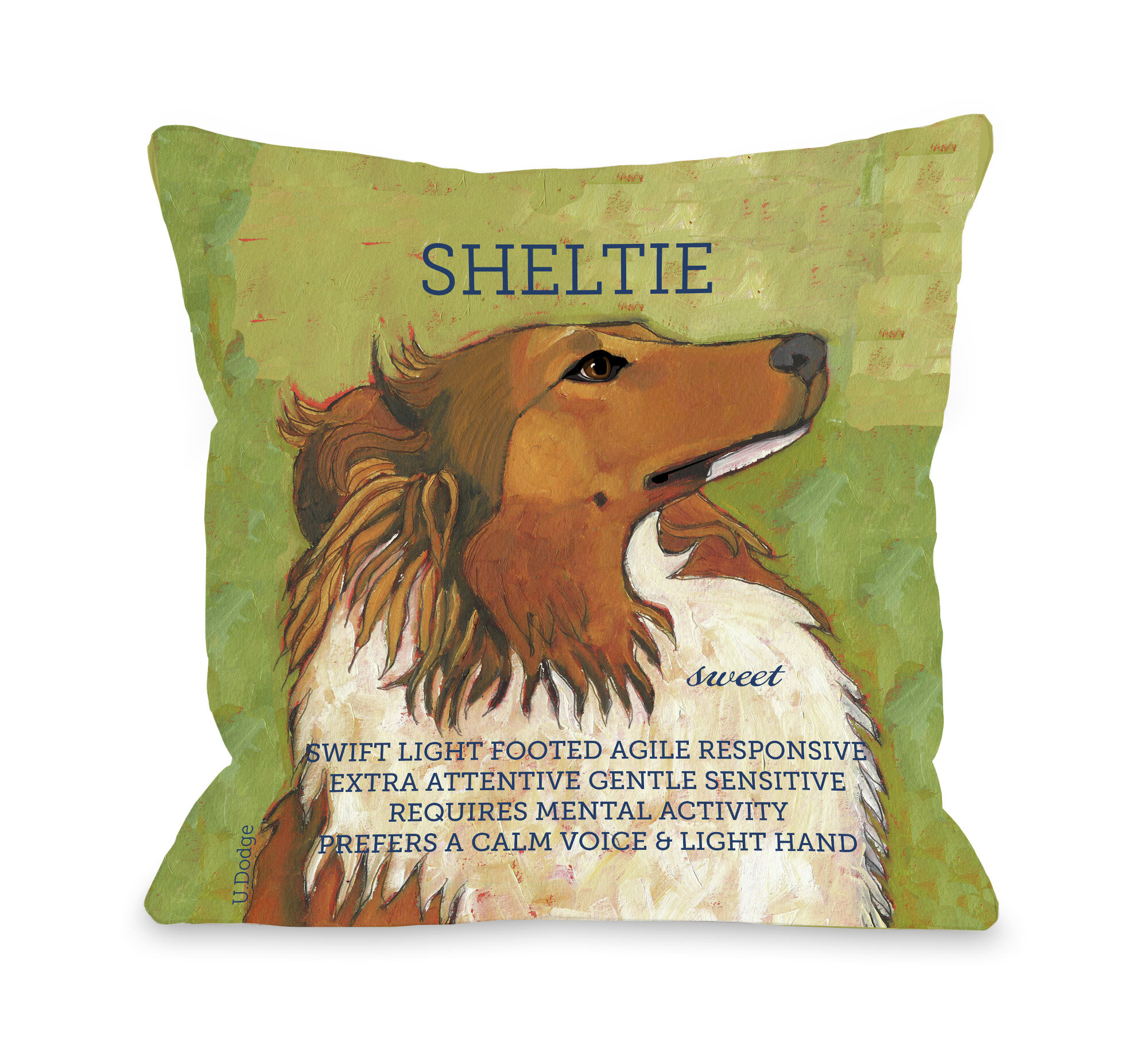 Winston Porter Kaelan Sheltie Throw Pillow Wayfair