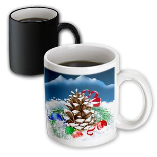 Aguon A Festive Christmas Pinecone Coffee Mug