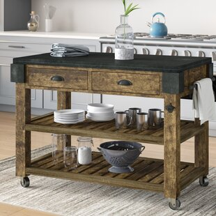 Shaan Kitchen Island with Granite 17 Stories