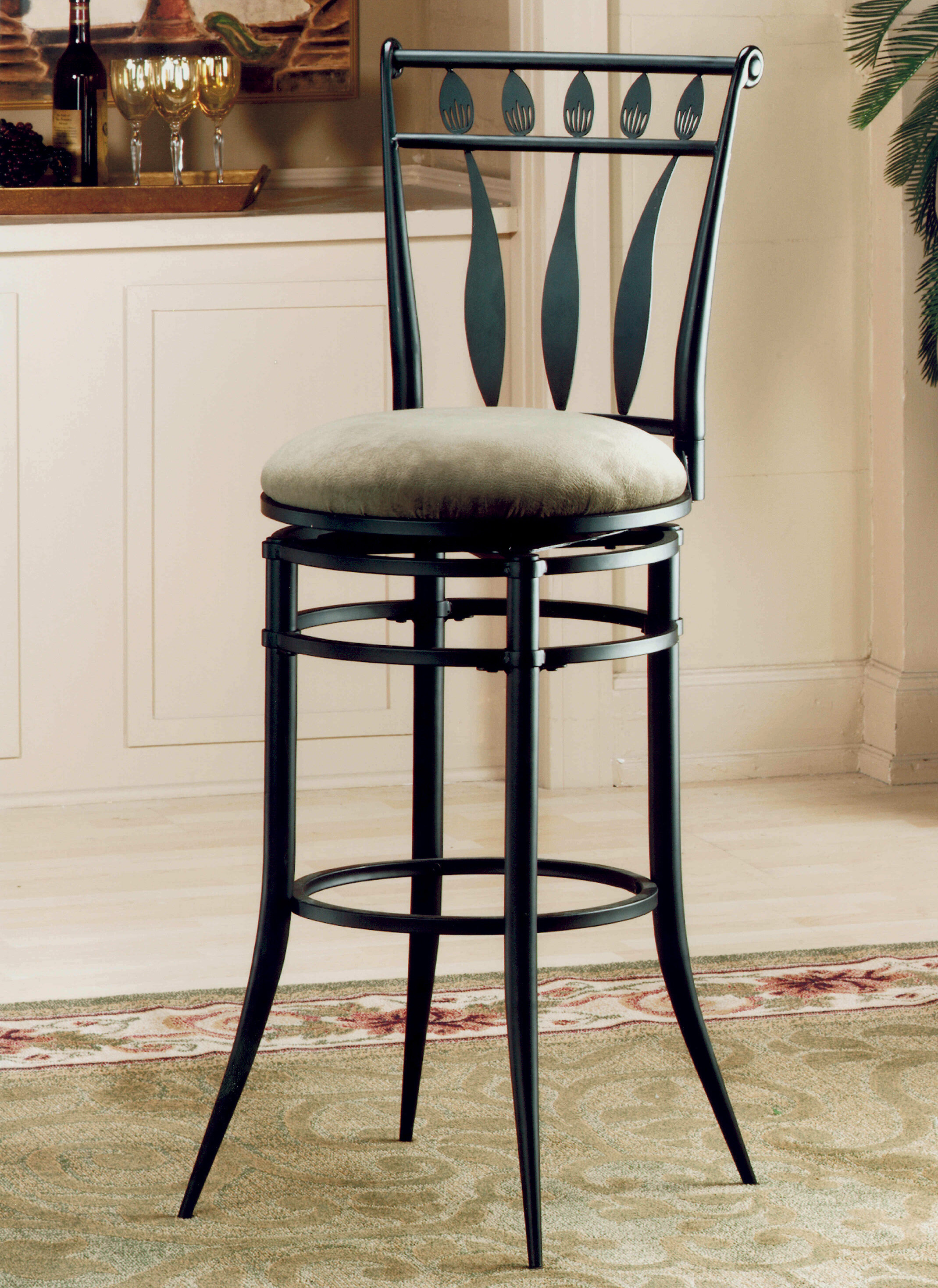 Outstanding Darby Home Co Avila 26 Swivel Bar Stool With Cushion Ibusinesslaw Wood Chair Design Ideas Ibusinesslaworg