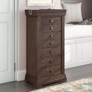 One Allium Way Galiena Jewelry Armoire with Mirror