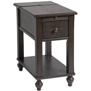Amboyer Chairside Table in Brown Gray by Darby Home Co