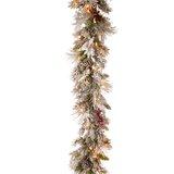9' Snowy Bedford Pine Pre-Lit Garland 70 Clear Lights