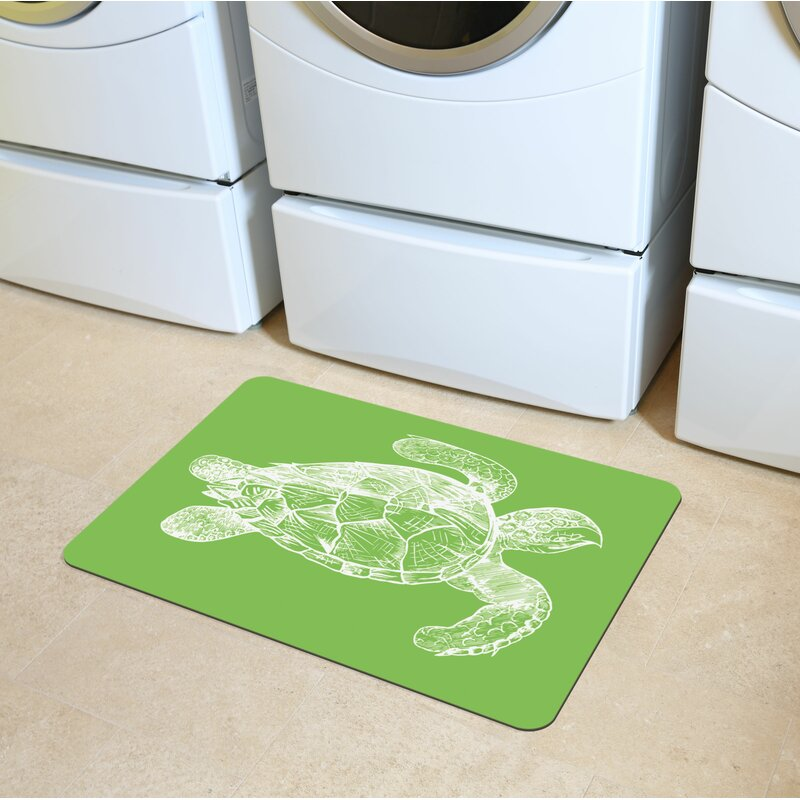 Briarcliff Lime Turtle Kitchen Mat