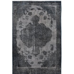 Where buy  One-of-a-Kind Vintage Hand-Knotted Wool Gray/Black Area Rug ByWildon Home ®