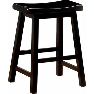 Weisgerber Wooden Casual 23.75 Counter Height Bar Stool (Set of 2)