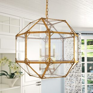 Puccio 6-Light Geometric Chandelier by One Allium Way
