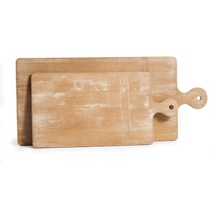 2 Piece Wood Cutting Board Set