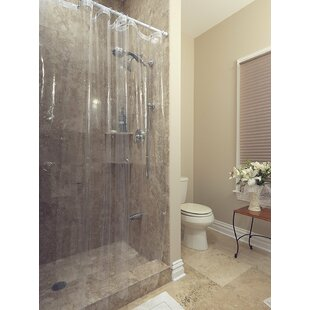 Venice Clear Heavy Duty 10 Gauge Vinyl Single Shower Curtain