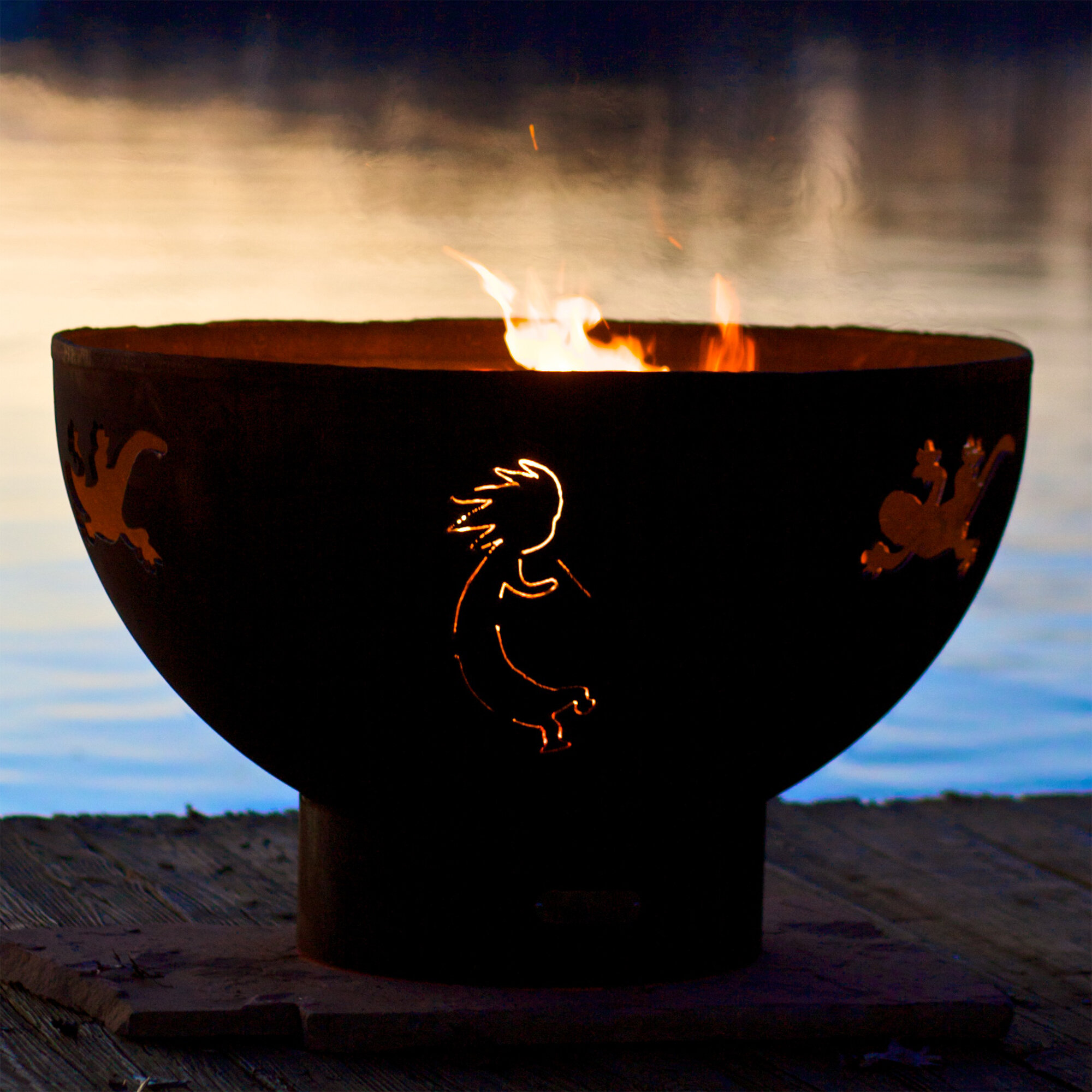 Fire Pit Art Kokopelli Bowl Steel Fire Pit Wayfair