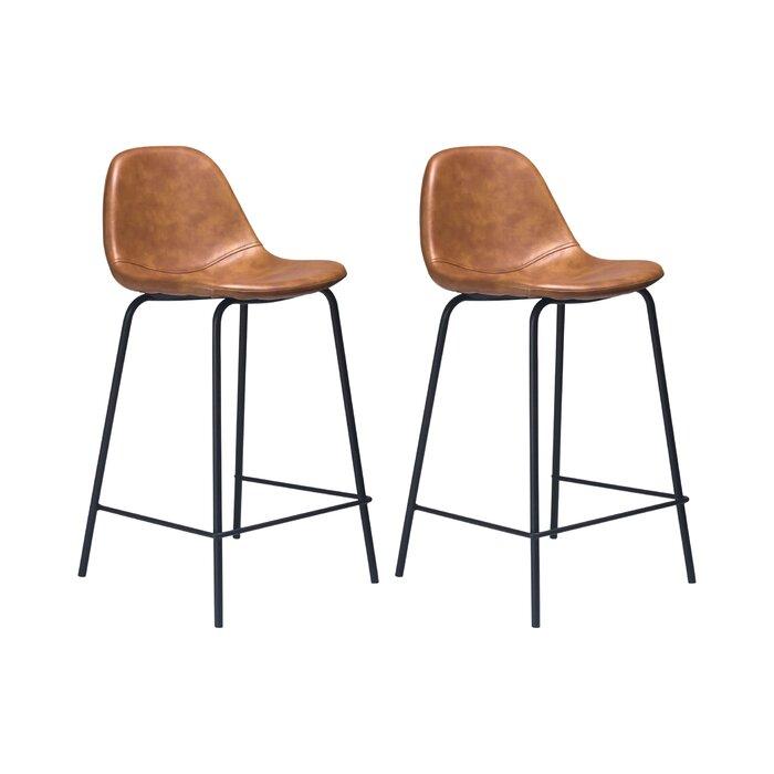Stupendous Connor Faux Leather Bar Counter Stool Short Links Chair Design For Home Short Linksinfo