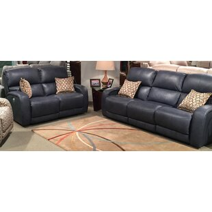 Fandango 2 Piece Leather Reclining Living Room Set