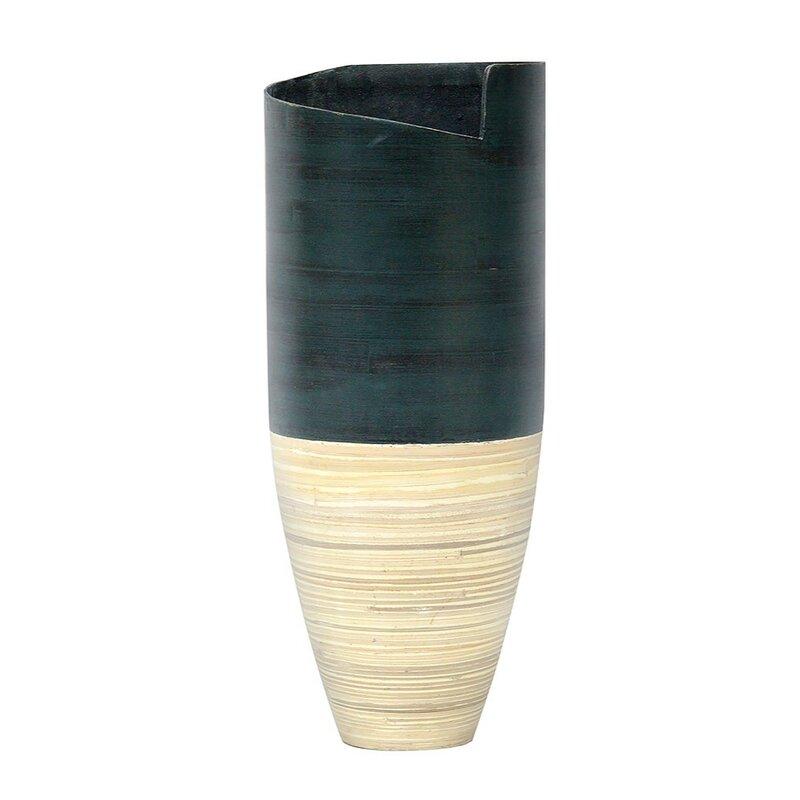 World Menagerie Roby Bamboo Floor Vase Wayfair