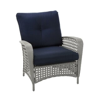 Edwards Patio Chair with Cushion (Set of 2)  sc 1 st  Wayfair & Patio Furniture Youu0027ll Love | Wayfair