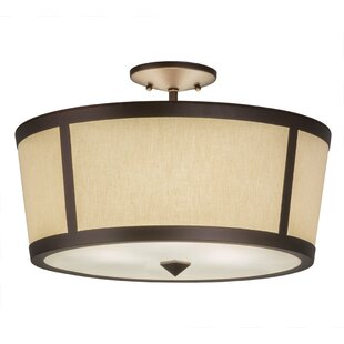 Affordable Alpes Tapered 3-Light Outdoor Flush Mount By Bloomsbury Market