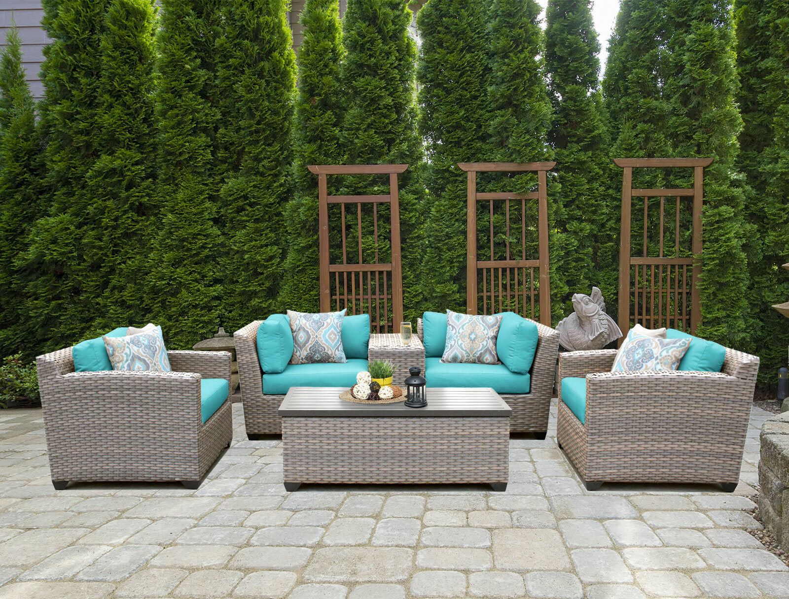 Sol 72 Outdoor™ Romford 6 Piece Rattan Sofa Seating Group With Cushions & Reviews | Wayfair