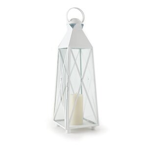 Beachcrest Home Outdoor Glass and Metal Lantern