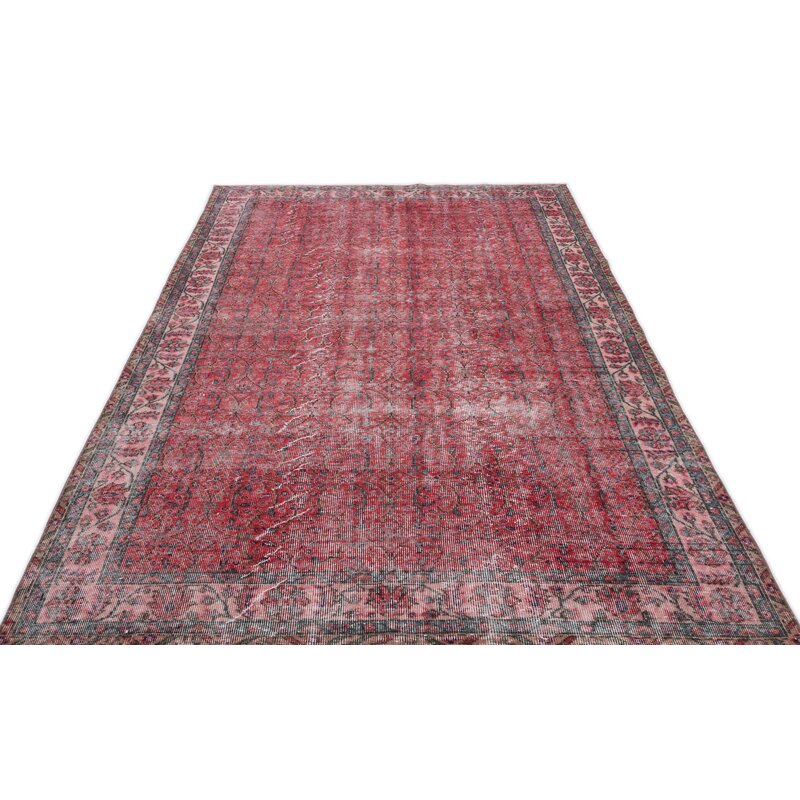 Bespoky Vintage Rugs One Of A Kind Hand Knotted 1960s Red 5 10 X 9 2 Area Rug Perigold