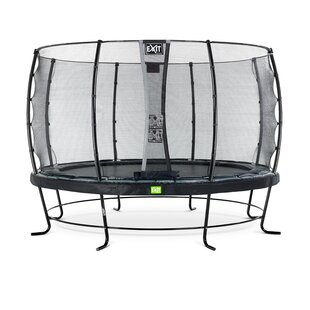 Elegant 13' Backyard Above Ground Trampoline With Safety Enclosure By Exit Toys