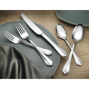 Cortland 18/10 Stainless Steel 75 Piece Flatware Set Service for 12
