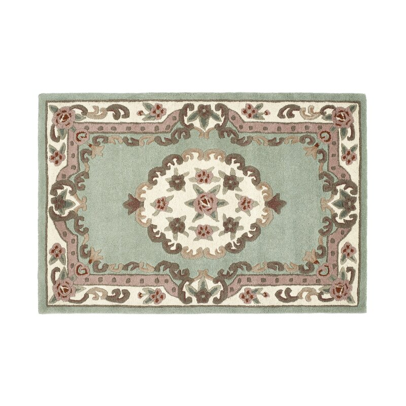 Marlow Home Co Dunne Hand Tufted Wool Green Rug Wayfair Co Uk