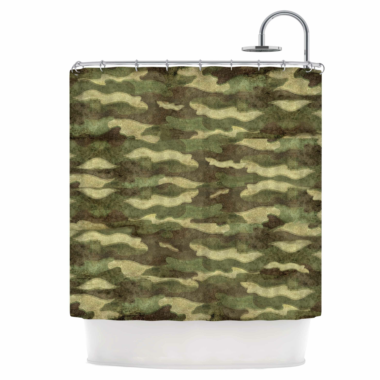 East Urban Home Dirty Camo Shower Curtain