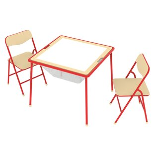 Allinfun Kids 3 Piece Arts and Crafts Table and Chair Set by O'Kids Inc.