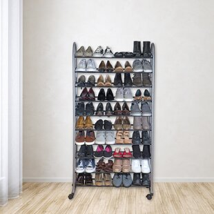 Affordable 10 Tier Mobile 40 Pair Shoe Rack By Rebrilliant