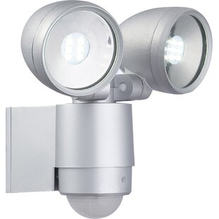 Radiator 2 Light Led Outdoor Spotlight With Pir Sensor