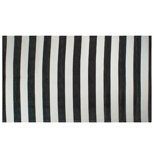 Austyn Striped Black/White Indoor/Outdoor Area Rug