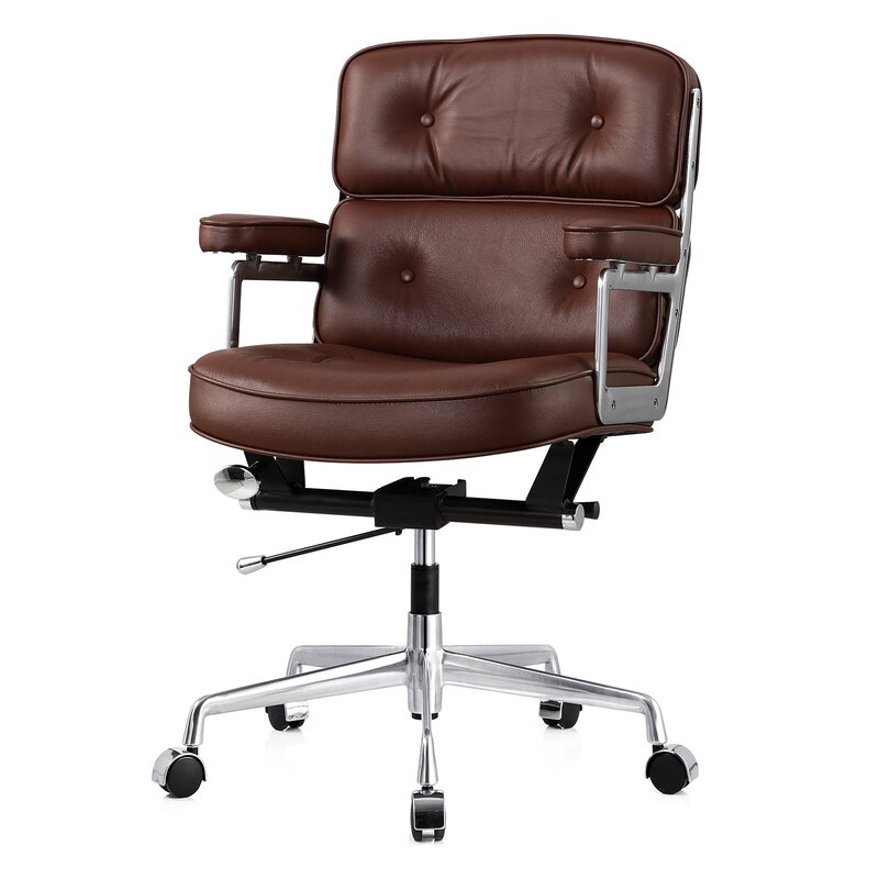 Meelano Leather Office Chair With Lumbar Support Reviews - Chair lumbar support