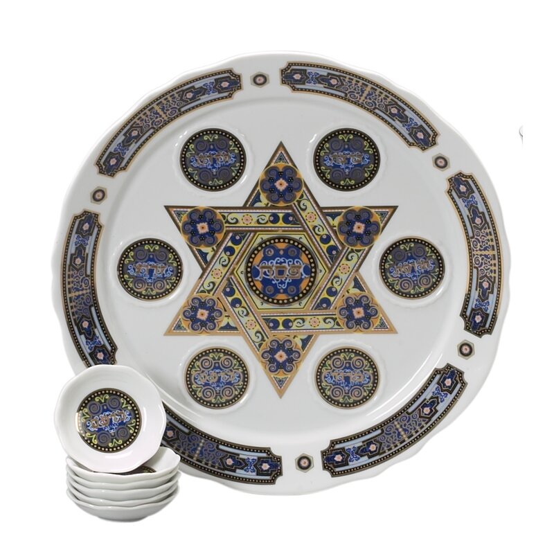 The Holiday Aisle Traditional Porcelain Seder Plate Reviews Wayfair