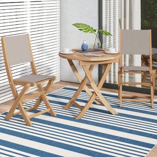 Ivy Bronx Curren Teak 3 Piece Bistro Set