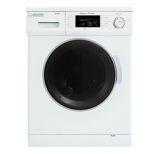 Compact 1.57 cu. ft. High Efficiency All In One Combo Washer with 2 Detergent Boxes and Electric Dryer by Equator