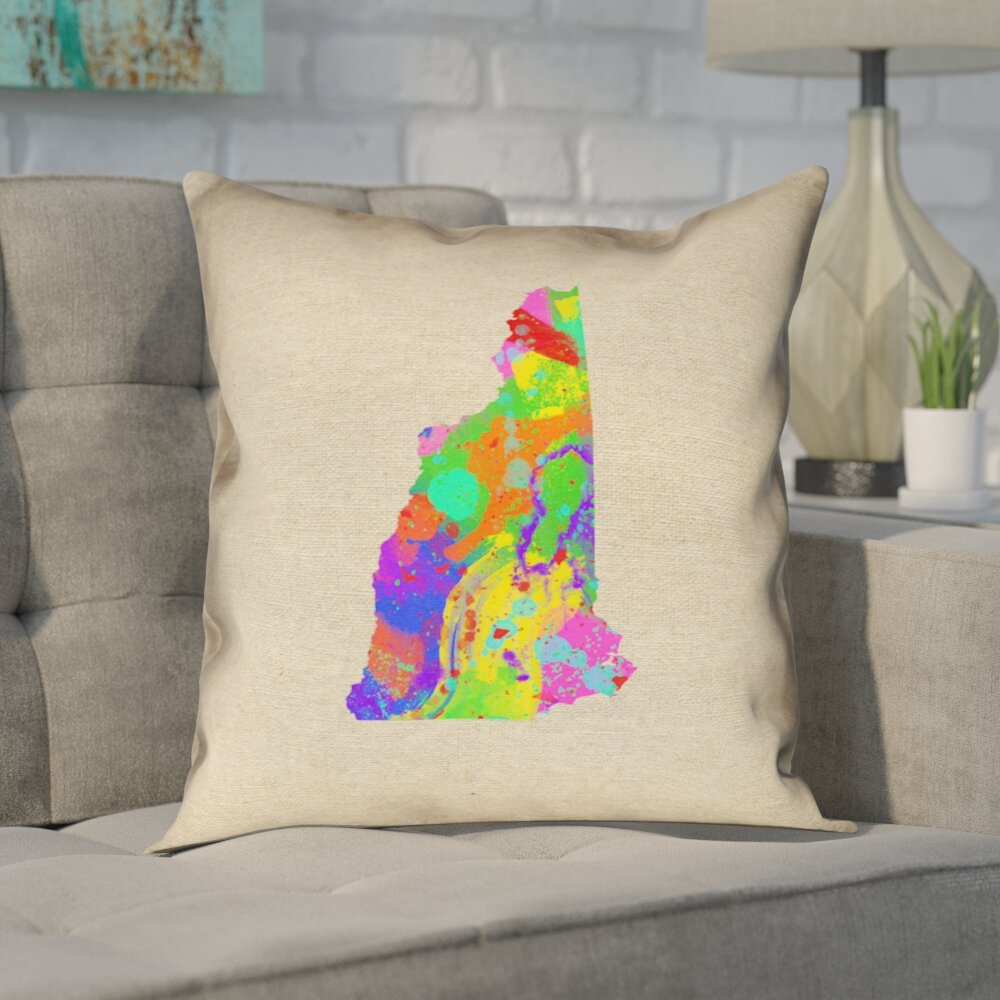 Ivy Bronx Giorgi State Watercolor In Poly Twill Double Sided Print Euro Pillow Wayfair