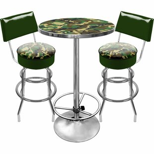 Hunt Camo Game Room 3 Piece Pub Table Set Trademark Global