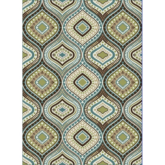 Clint Contemporary Brown Green Area Rug