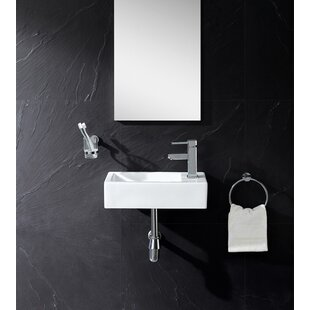 Ceramic 18 Wall Mount Bathroom Sink By Fine Fixtures