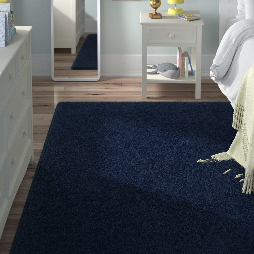 Anika Midnight Navy Blue Area Rug