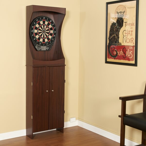 Hathaway Outlaw Free Standing Dartboard And Cabinet Set Reviews Wayfair