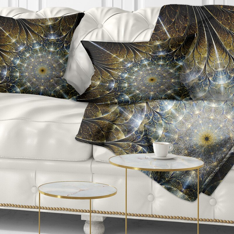 East Urban Home Abstract Symmetrical Fractal Flower Lumbar Pillow Wayfair Ca